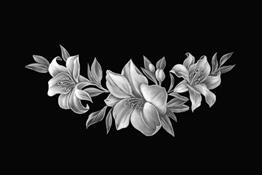 Примеры оформления: цветы и растения
