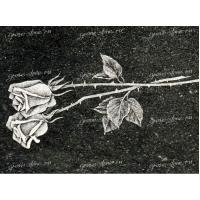 Гравировка цветов и растительных композиций на камне