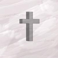 Крест гранитный четырехконечный малый