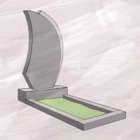 Гранитный памятник вертикальный резной объемный - 053