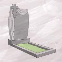 Гранитный памятник вертикальный с плащаницей и крестом – 150
